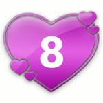 число любви 8