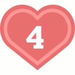 число сердца 4