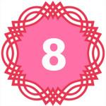 число силы рождения 8