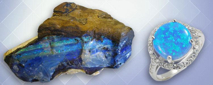Голубой опал джиразоль
