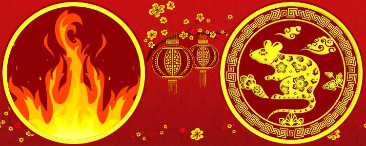 Восточный гороскоп Красная Огненная Крыса