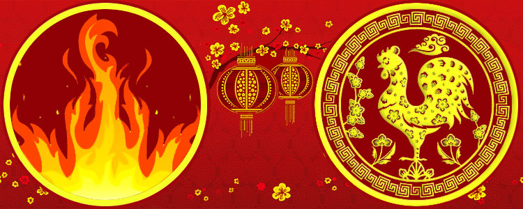 Восточный гороскоп Красный Огненный Петух